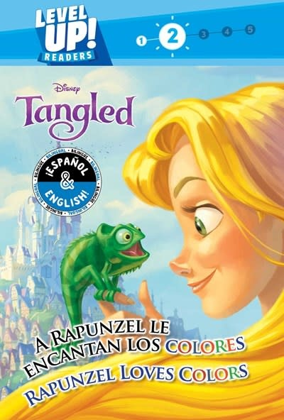 little bee books Rapunzel Loves Colors / A Rapunzel le encantan los colores (English-Spanish) (Disney Tangled) (Level Up! Readers)