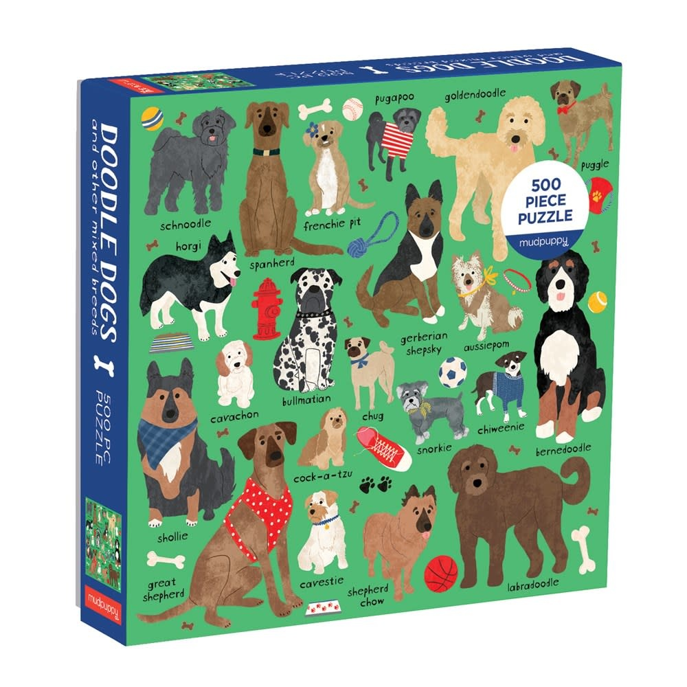 Mudpuppy Doodle Dog And Other Mixed Breeds (500 Piece Family Puzzle)