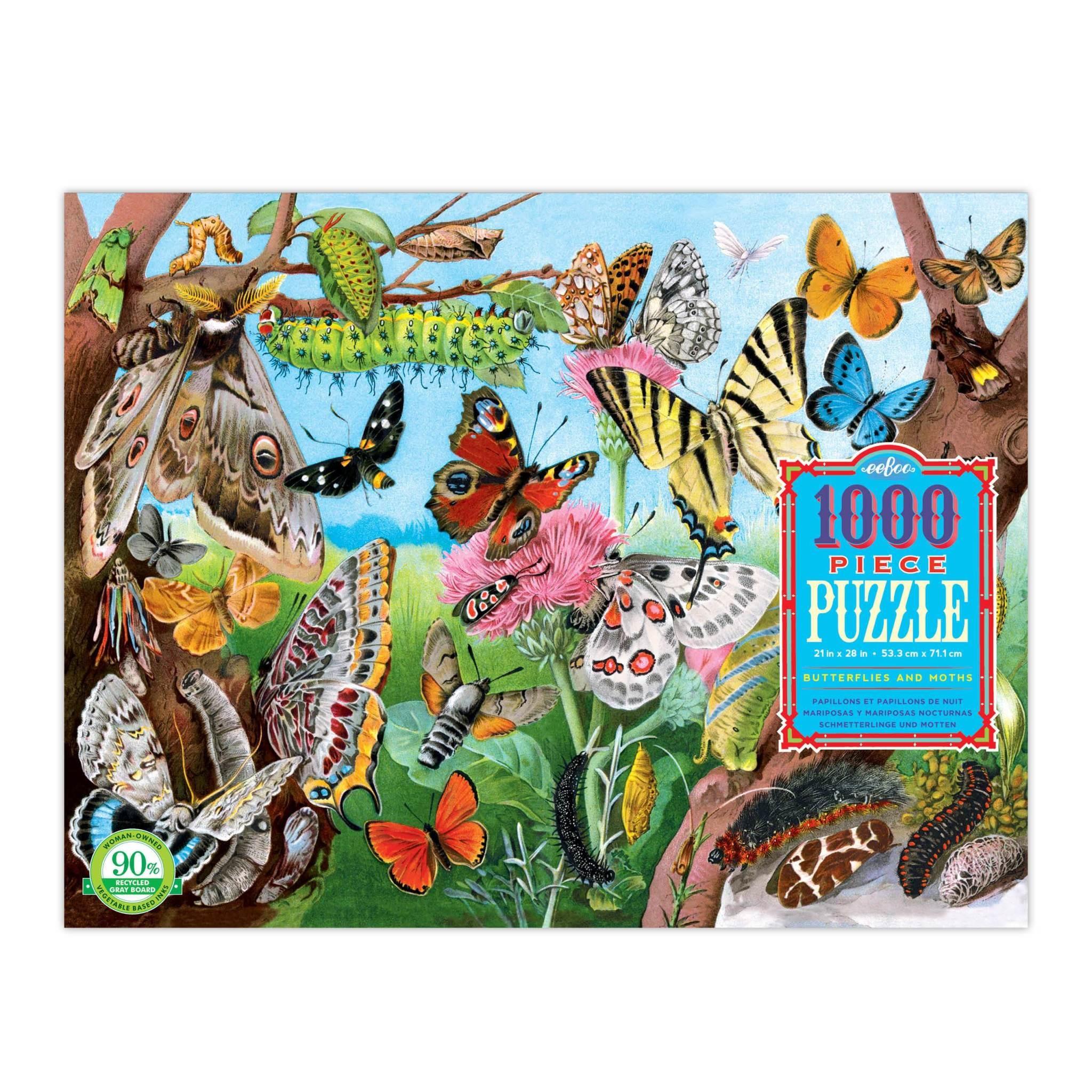 Butterflies and Moths (1000 piece Jigsaw)