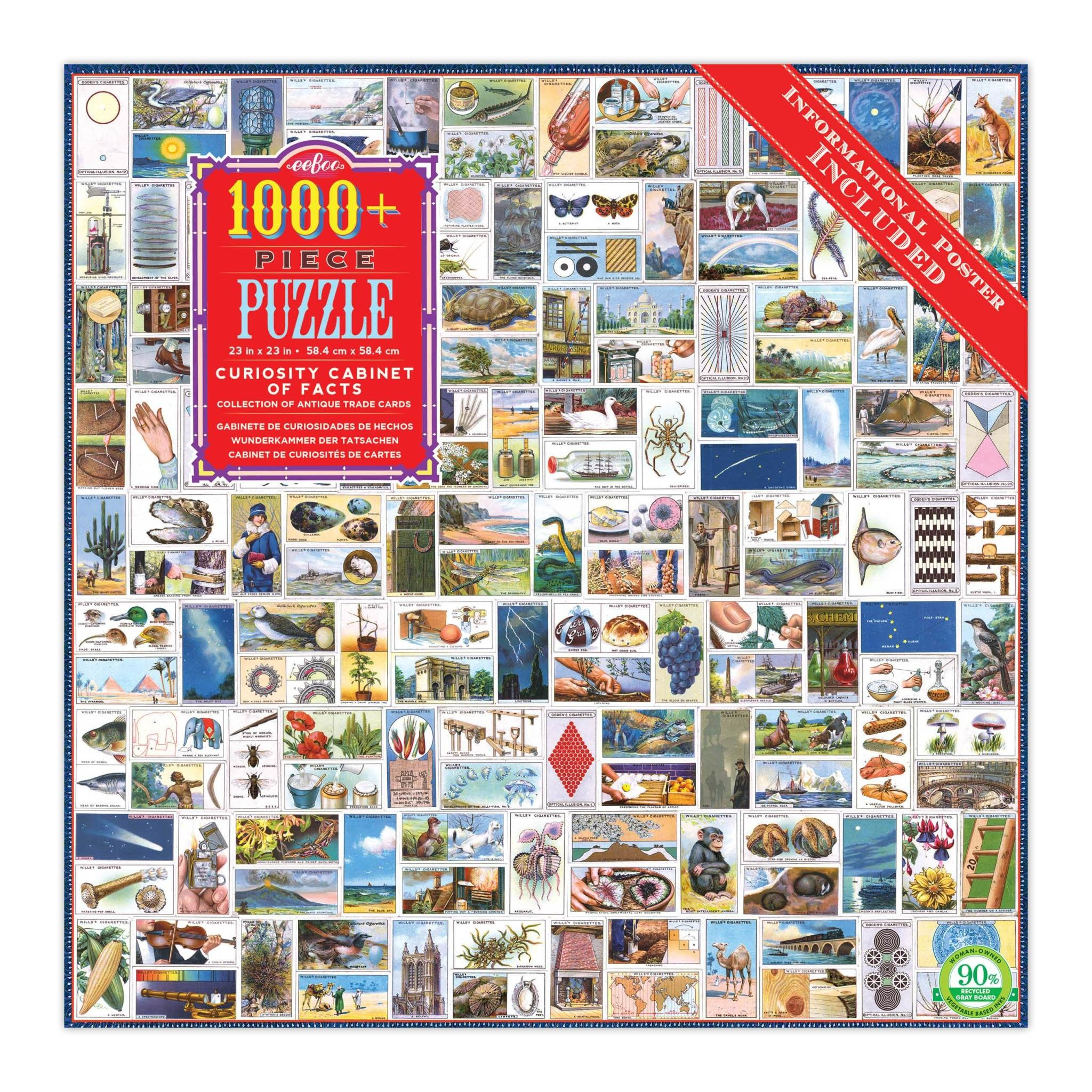 Curiosity Cabinet Of Facts Puzzle (1000 piece Jigsaw)