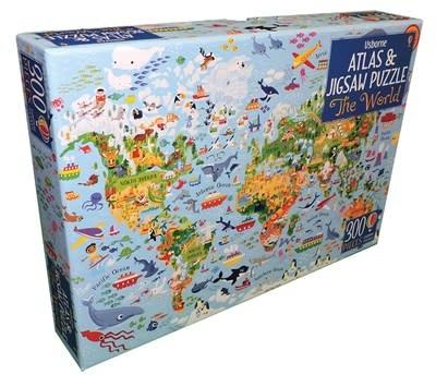 Usborne Atlas Book & Jigsaw Puzzle