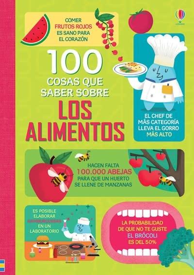 Usborne 100 cosas que saber sobre los alimentos-100 Things to Know abuot food