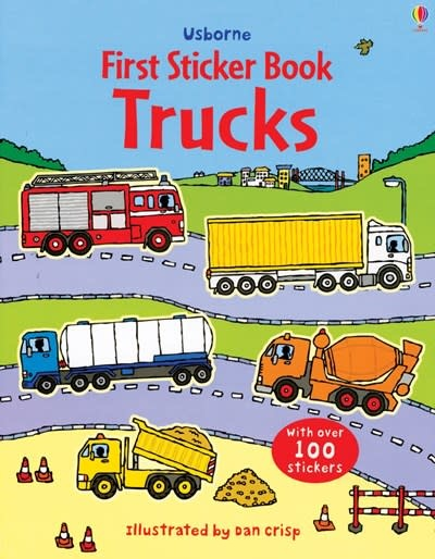 Usborne Trucks Sticker Book (REV)
