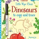 Usborne Little Wipe-Clean Dinosaurs to Copy and Trace