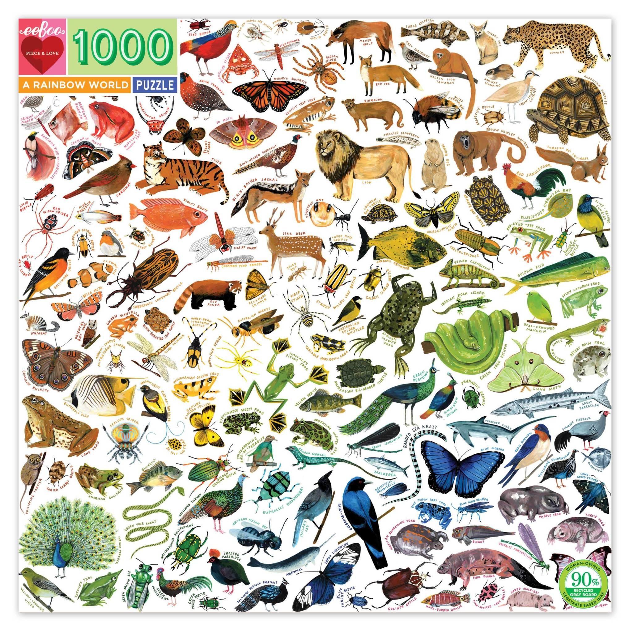 A Rainbow World (1000 Piece Puzzle)