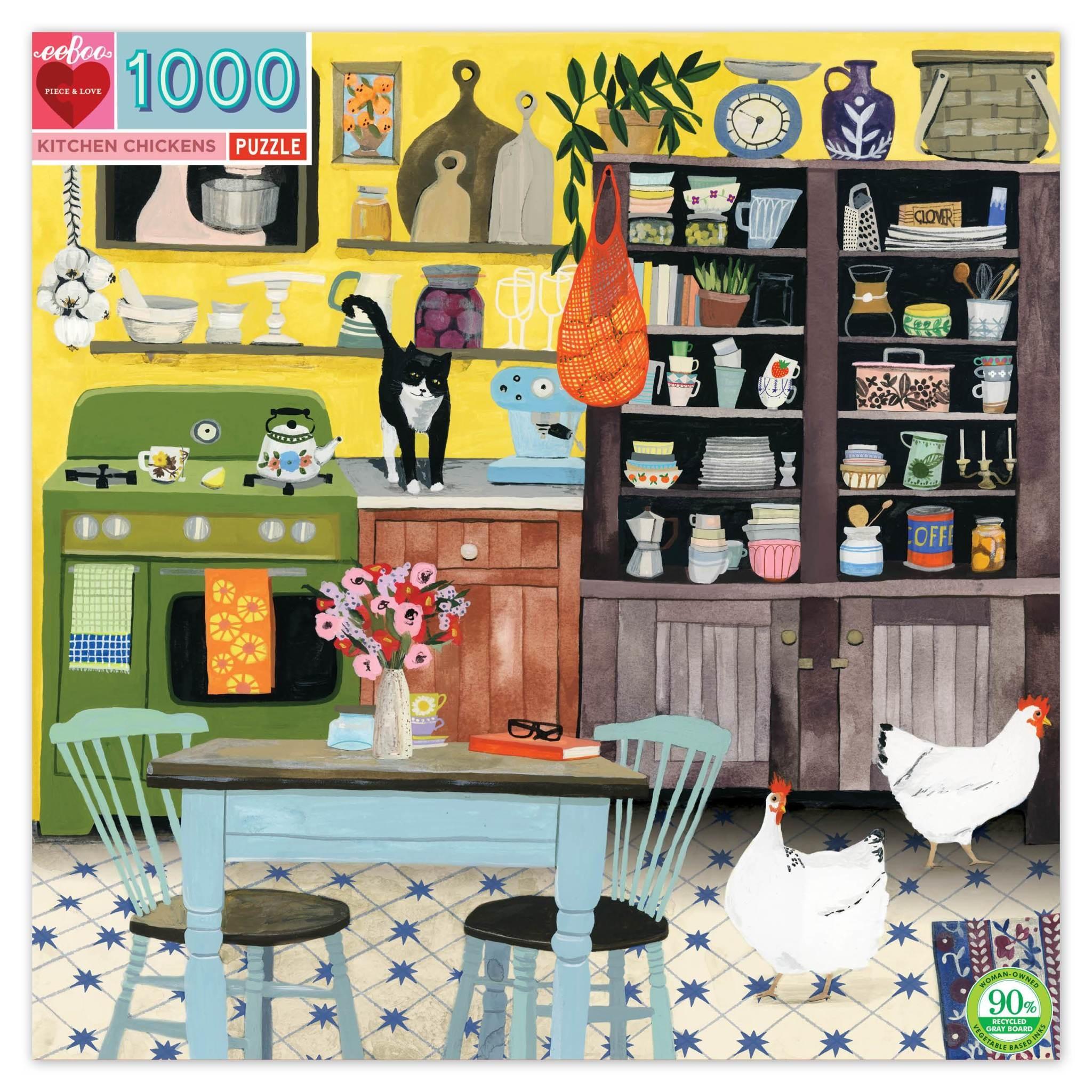 Kitchen Chickens (1000 piece Jigsaw)