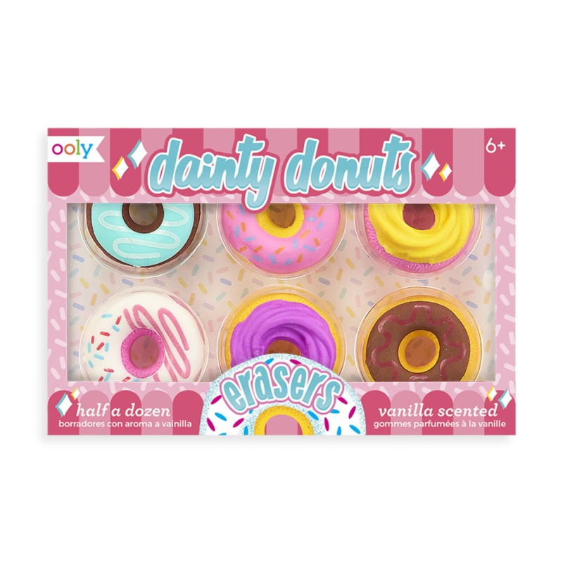 Ooly Dainty Donuts Scented Erasers (Set of 6)