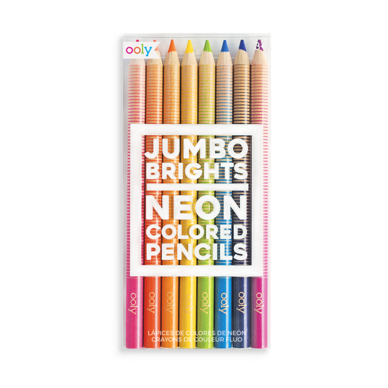 Ooly Jumbo Brights Neon Colored Pencils (Set of 8)