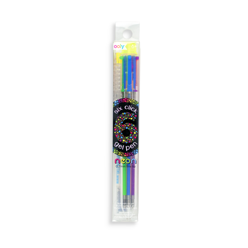 Ooly 6 Click Gel Pen - Neon