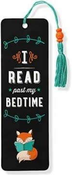 I Read Past My Bedtime (Beaded Bookmark)