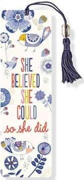 She Believed She Could, So She Did (Beaded Bookmark)