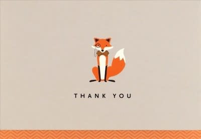 Dapper Fox (14 Boxed Thank You Notes)