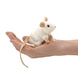 Folkmanis Mini White Mouse (Finger Puppet)