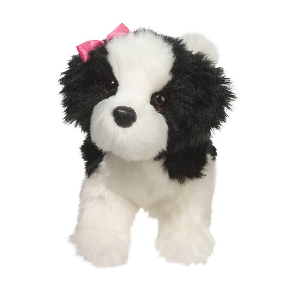 Poofy, Black and White Shih-Tzu Puppy Dog (Plush)