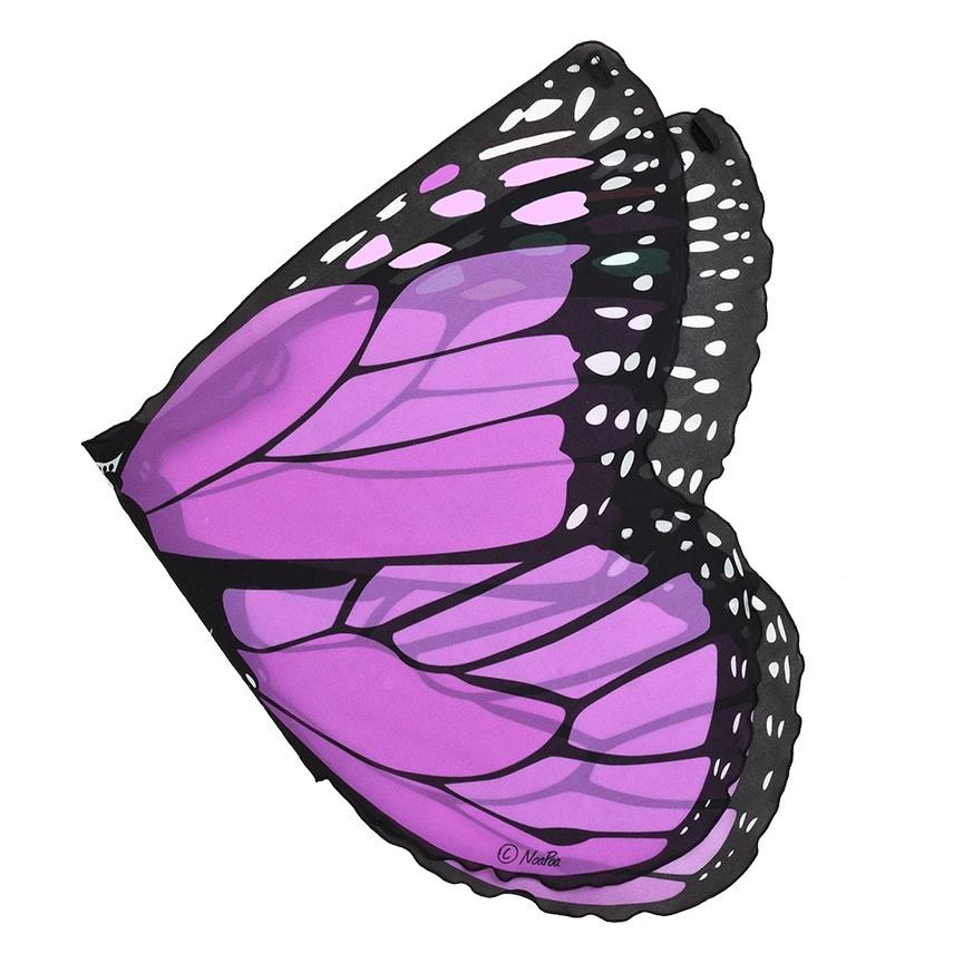 Purple Monarch Butterfly Wings