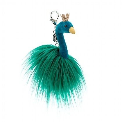 Fluffy Fancy Peacock Bag Charm