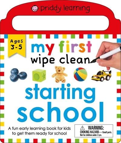 Priddy Books My First Wipe Clean: Starting School