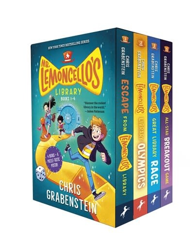 Yearling Mr. Lemoncello's Library Books 1-4 (Boxed Set)