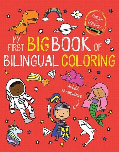 little bee books My First Big Book of Bilingual Coloring