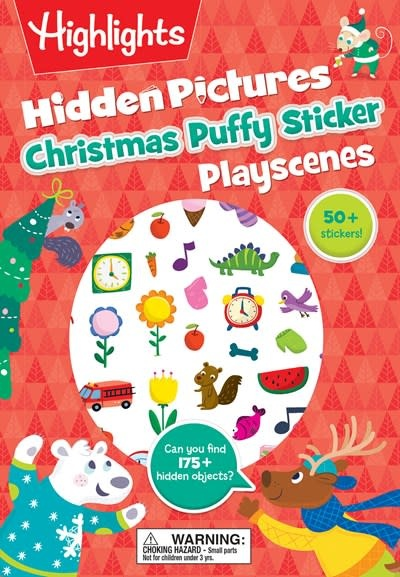 Highlights Press Christmas Hidden Pictures Puffy Sticker Playscenes