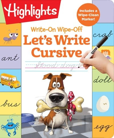 Highlights Learning Write-On Wipe-Off Let's Write Cursive