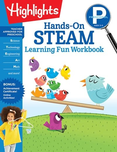 Highlights Learning Preschool Hands-On STEAM Learning Fun Workbook