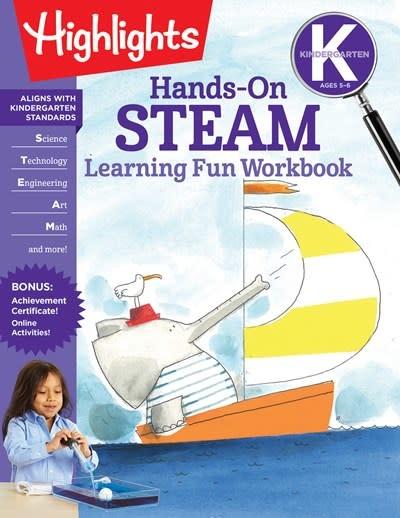 Highlights Learning Kindergarten Hands-On STEAM Learning Fun Workbook