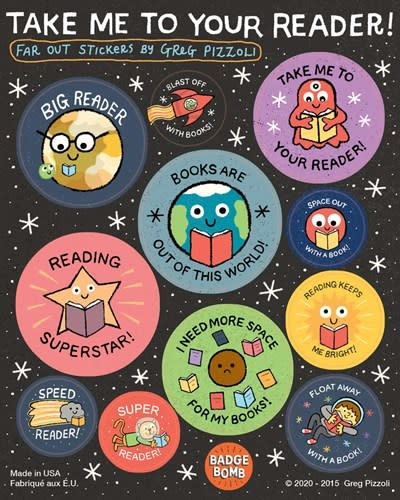 Badge Bomb Take Me To Your Reader Sticker Sheets