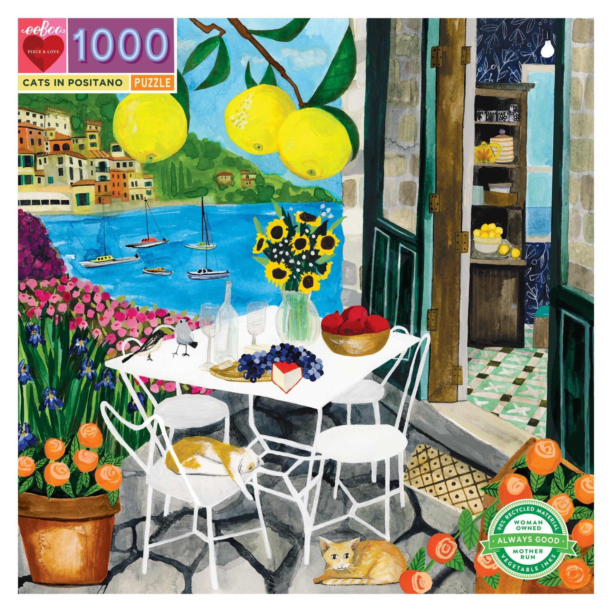 Cats in Positano (1000 Piece Puzzle)