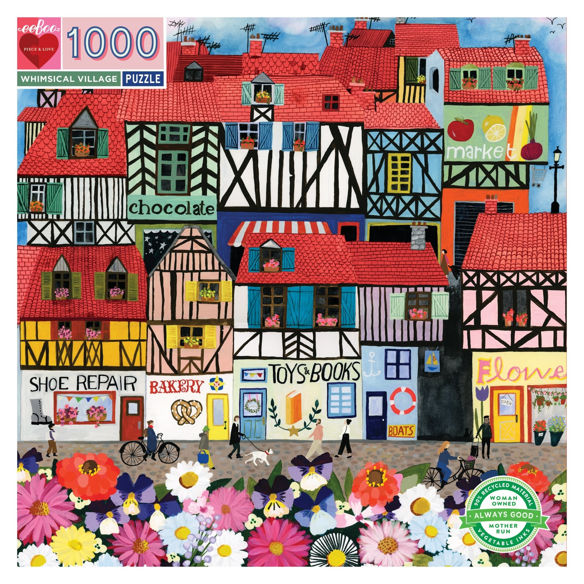 Whimsical Village (1000 Piece Puzzle)