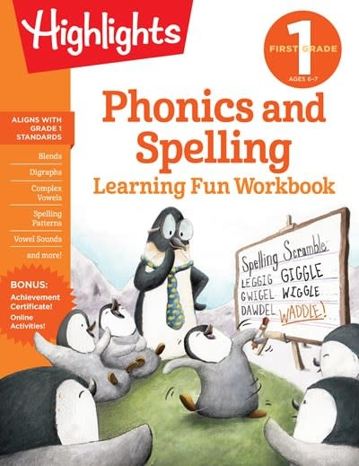 Highlights Learning First Grade Phonics and Spelling
