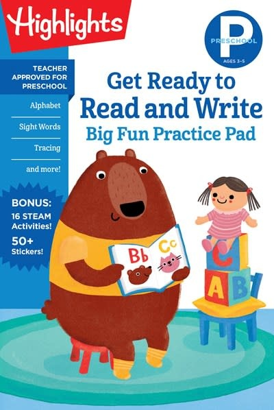 Highlights Learning Preschool Get Ready to Read and Write Big Fun Practice Pad