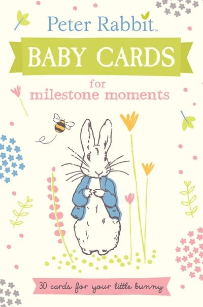 Warne Peter Rabbit Baby Cards for Milestone Moments