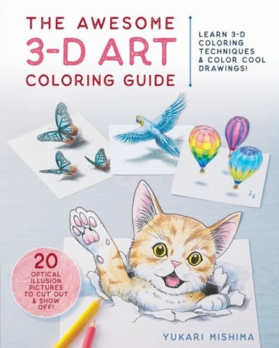 Zakka Workshop The Awesome 3-D Art Coloring Guide