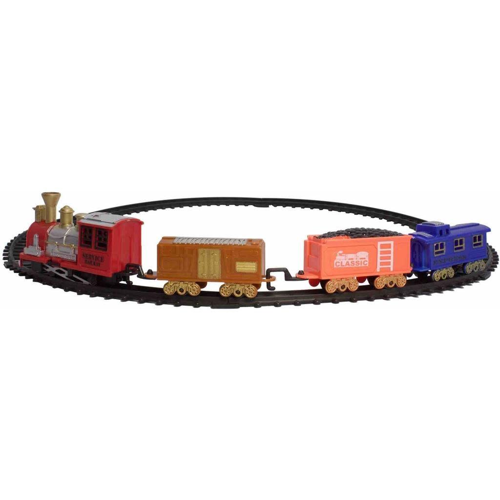 Classic Toy Train Set (16 Pieces)