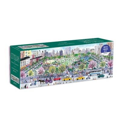 Galison Michael Storrings Cityscape 1000 Piece Panoramic Puzzle