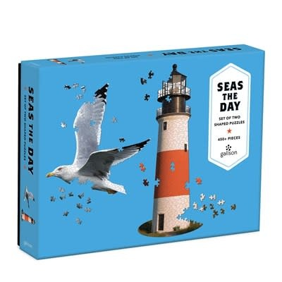 Galison Seas The Day 2 in 1 Shaped Puzzle
