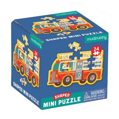 Firetruck Shaped Mini Puzzle