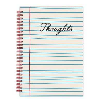 """Galison Thoughts 6 x 8"""" Wire-O Journal"""