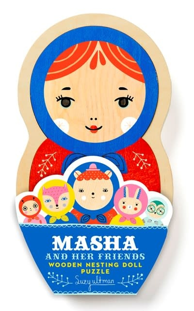 Chronicle Books Masha and Her Friends Wooden Nesting Doll Puzzle
