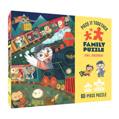 Chronicle Books Piece It Together Family Puzzle: Owl Aboard!