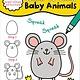 Sourcebooks Wonderland My First Learn-To-Draw: Baby Animals
