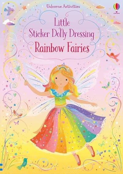 Usborne Little Sticker Dolly Dressing Rainbow Fairies