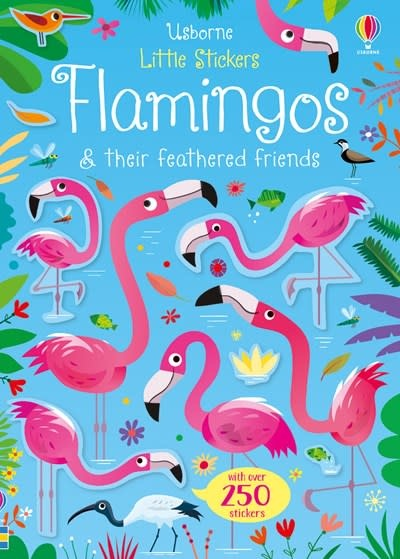 Usborne Little Stickers Flamingos