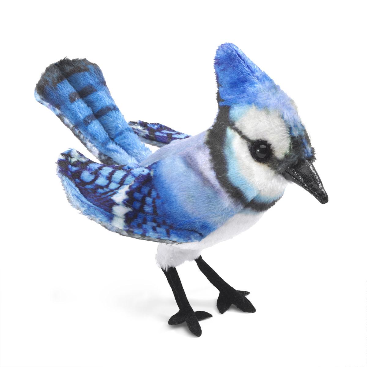 Folkmanis Mini Blue Jay (Finger Puppet)