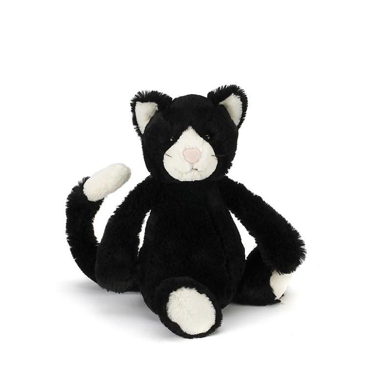 Bashful Black & White Cat (Medium Plush)