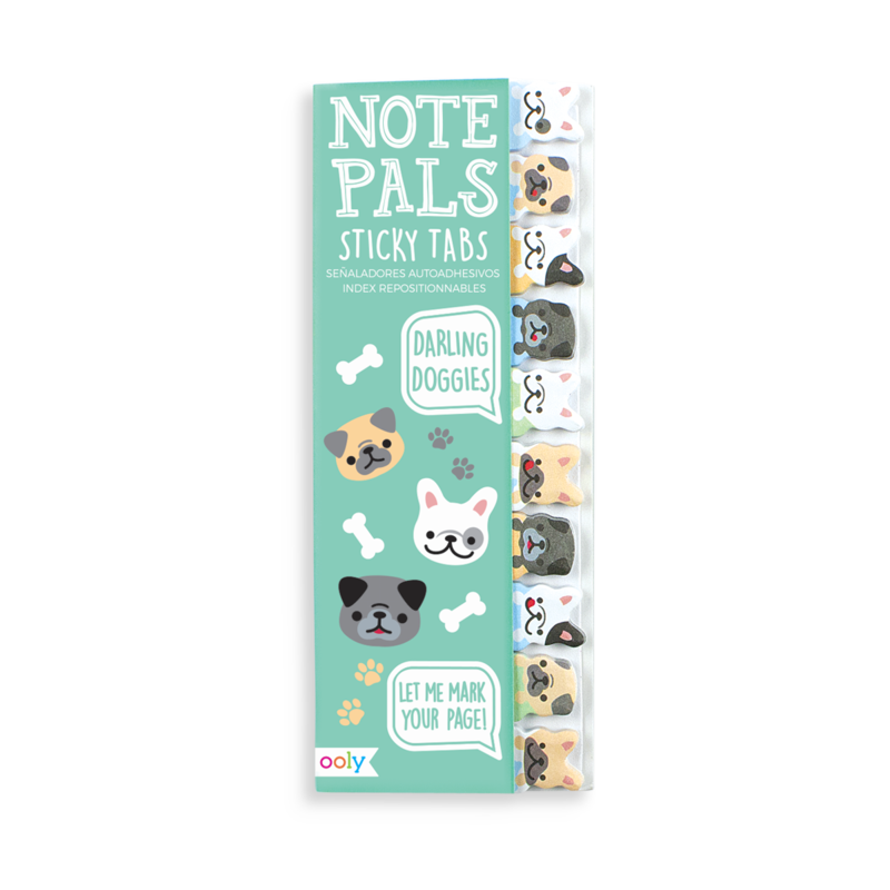 Ooly Note Pals Sticky Tabs: Darling Doggies
