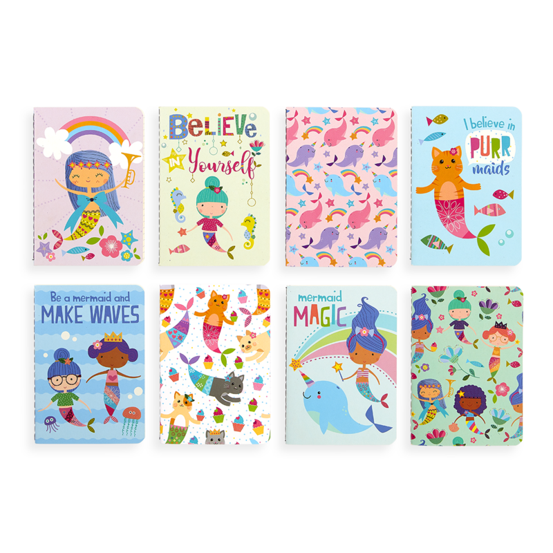 Ooly Mermaid Magic Mini Pocket Pals Journals (Set of 8)
