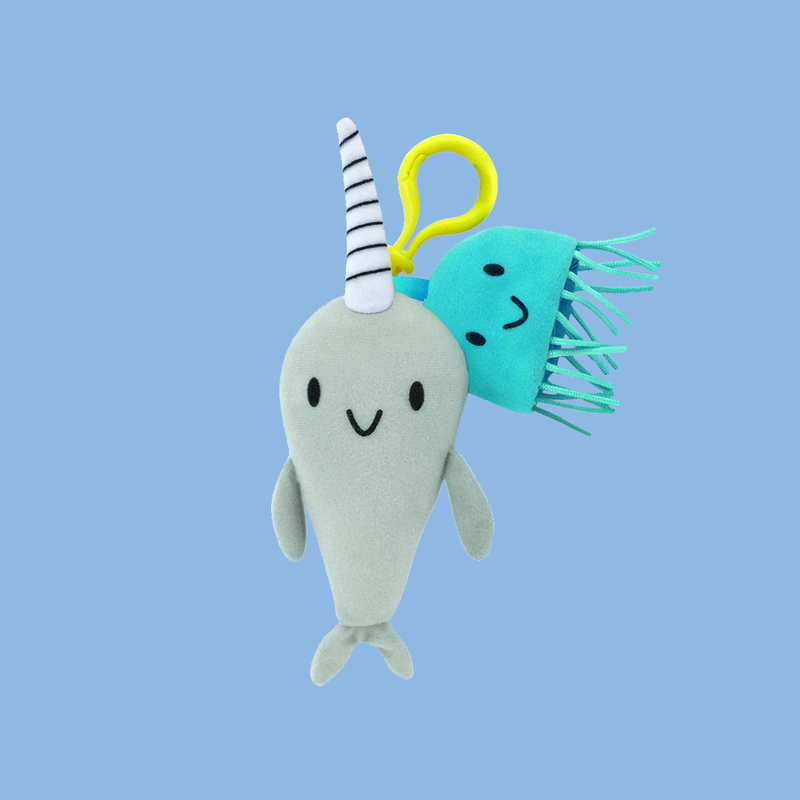 Narwhal and Jelly Backpack Pull