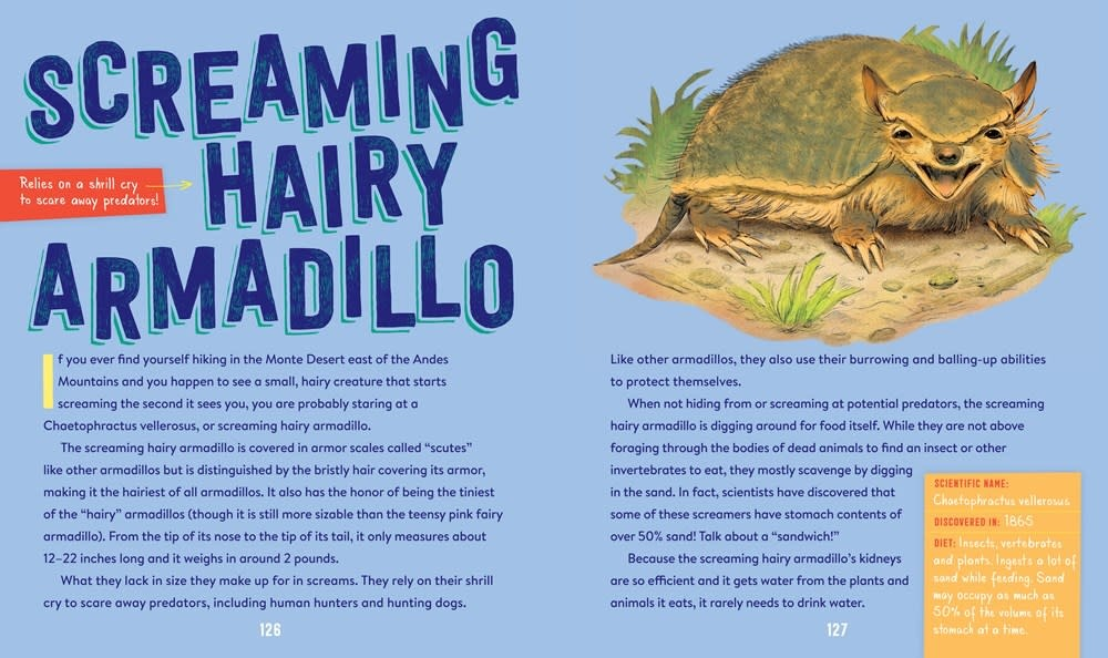 Workman Publishing Company The Screaming Hairy Armadillo and 76 Other Animals with Wild, Wacky Names